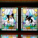 犬ステンドグラス