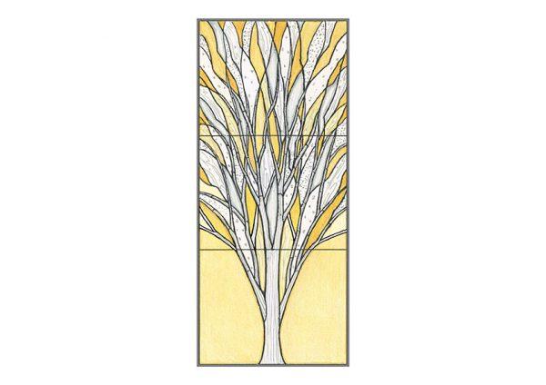 欅ステンドグラスデザイン